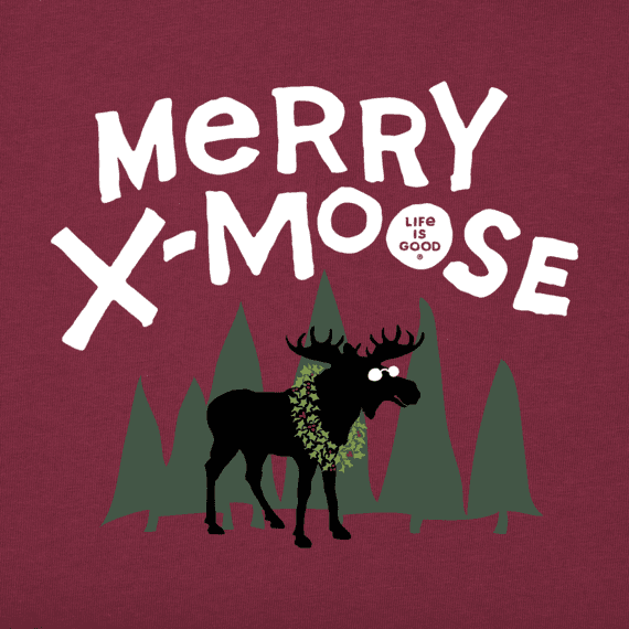 Boys Merry X-Moose Long Sleeve Crusher Tee