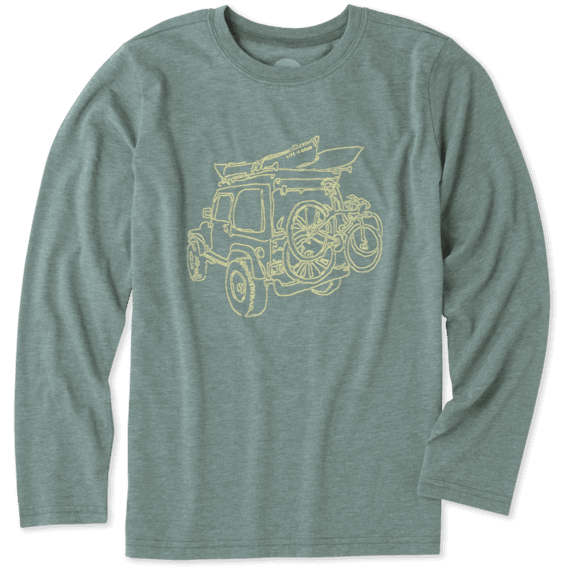 Boys Off-road Outdoor Long Sleeve Cool Tee