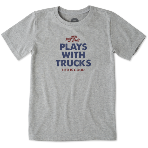 Boys Plays With Trucks Crusher Tee