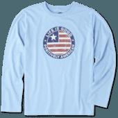 Boys Positively American Coin Long Sleeve Cool Tee