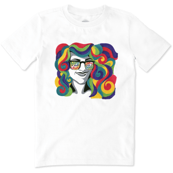 Boys Rainbow Hair Crusher Tee