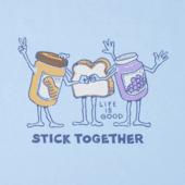 Boys Stick Together PB&J Crusher Tee