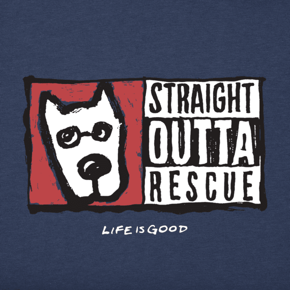 Boys Straight Outta Rescue Long Sleeve Crusher Tee