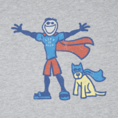 Boys Superhero Jake Rocket Long Sleeve Crusher Tee
