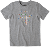 Boys Superpower Crossword Crusher Tee