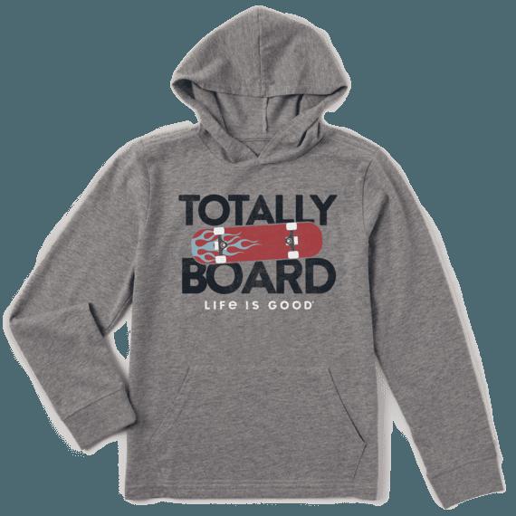 Boys Totally Board Hooded Crusher Tee