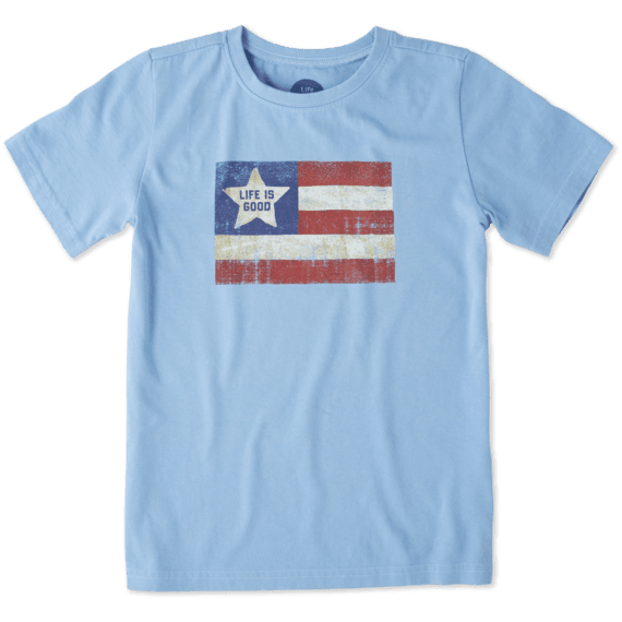 Boys Vintage American Flag Crusher Tee