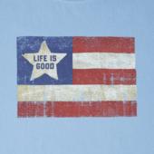 Boys Vintage American Flag Crusher Tee