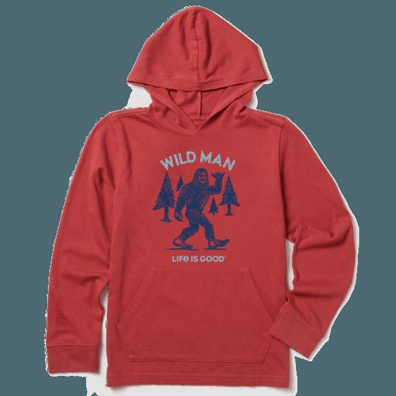 Boys Wild Man Hooded Crusher Tee