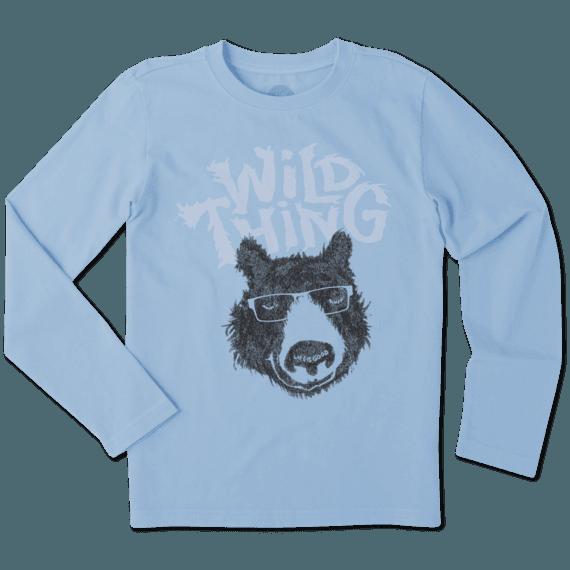 Boys Wild Thing Bear Long Sleeve Crusher Tee