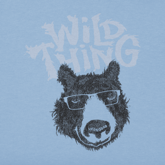 Boys Wild Thing Bear Long Sleeve Crusher Tee