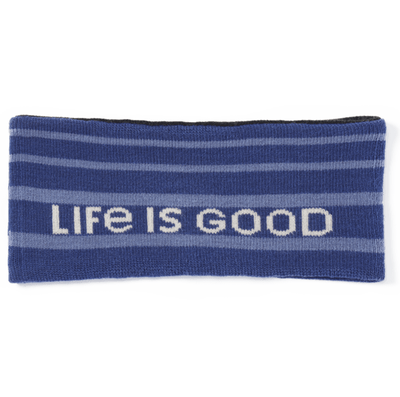 Branded LIG Stripes Reversible Life is Good Headband