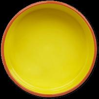 38oz Ceramic Daisy Life is Good Dog Bowl