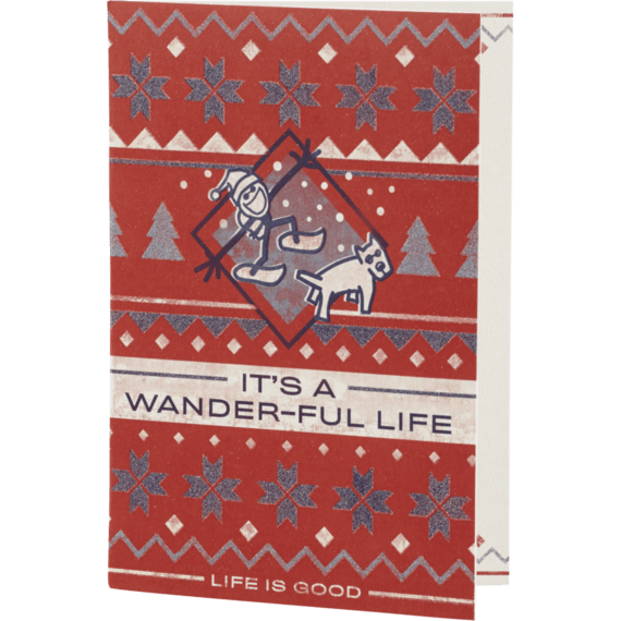 It's A Wanderful Life Holiday Card
