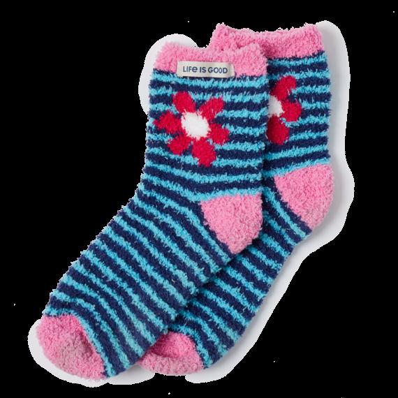 Daisy Stripe Snuggle Socks