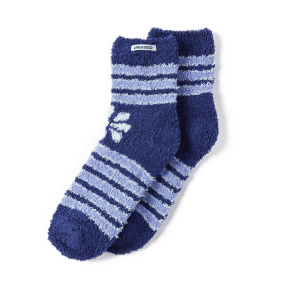 Daisy Stripes Snuggle Socks