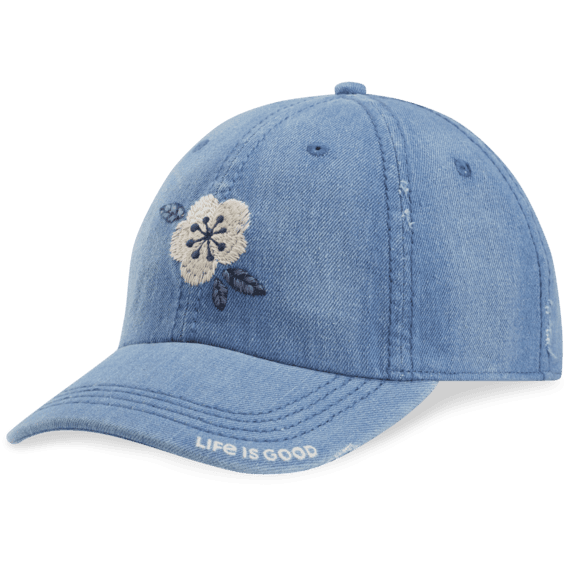Denim Flower Sunwashed Chill Cap