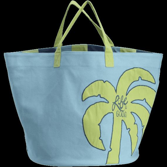Palm Tree Dockside Beach Bag