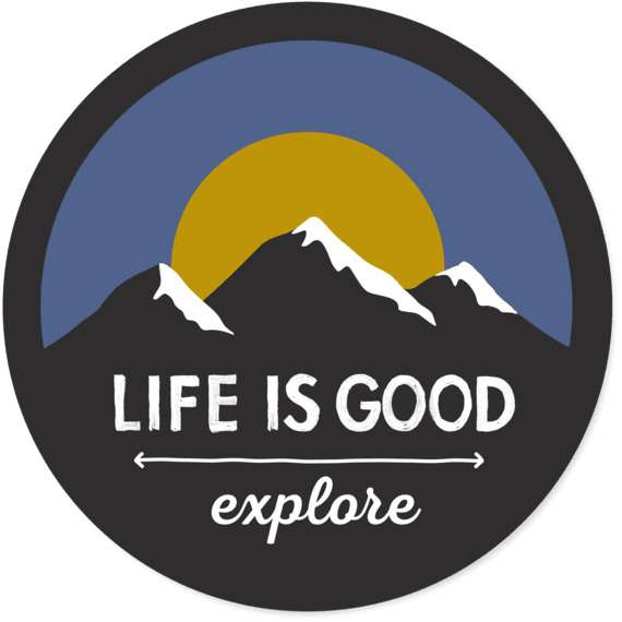 Explore Mountains Circle Sticker