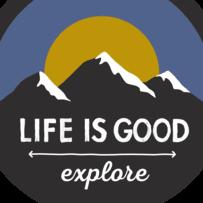 Explore Mountains Circle Sticker
