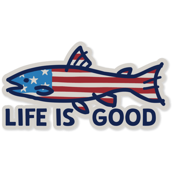 Fish Flag Decal