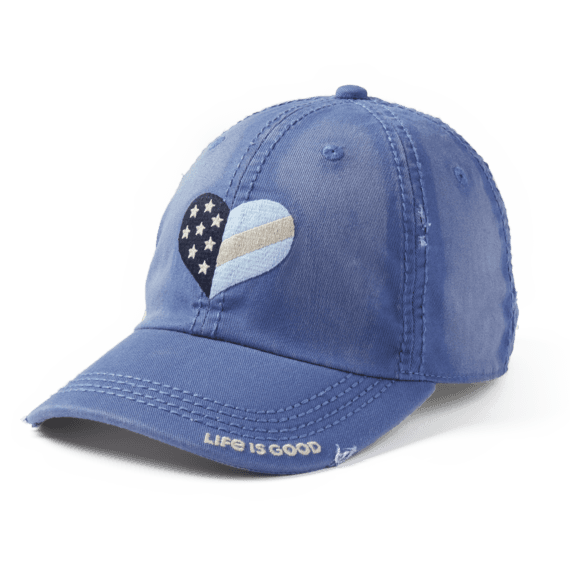 Flag Heart Sunwashed Chill Cap