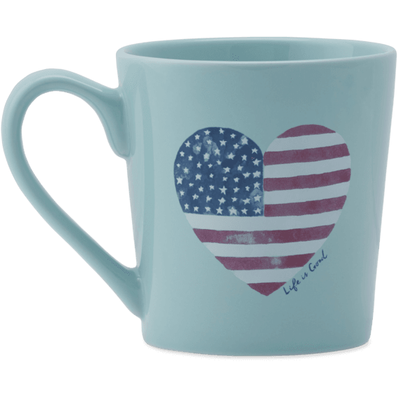 Flag Heart Watercolor Everyday Mug
