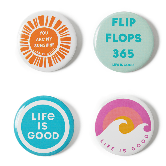Flip Flops 365 Positive Pins 4-Pack