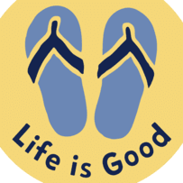 Flip Flops LIG Circle Sticker