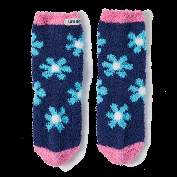 Floral Pattern Snuggle Socks