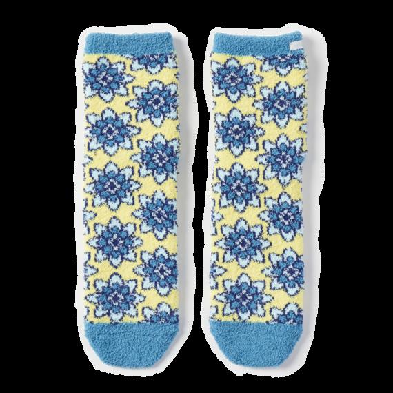 Flowering Mandala Plush Snuggle Socks