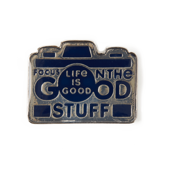 Focus on the Good Enamel Pin