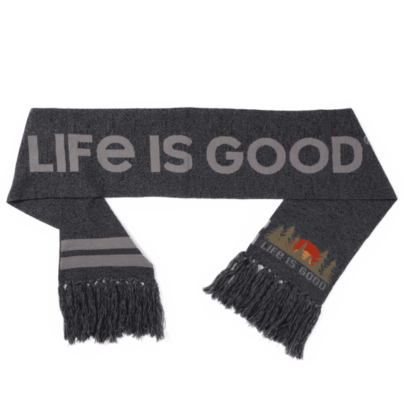 Forest Scenic Reversible Life is Good Scarf