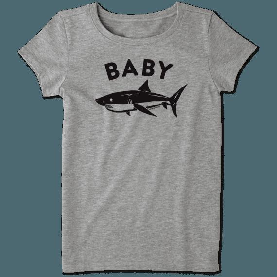 Girls Baby Shark Crusher Tee