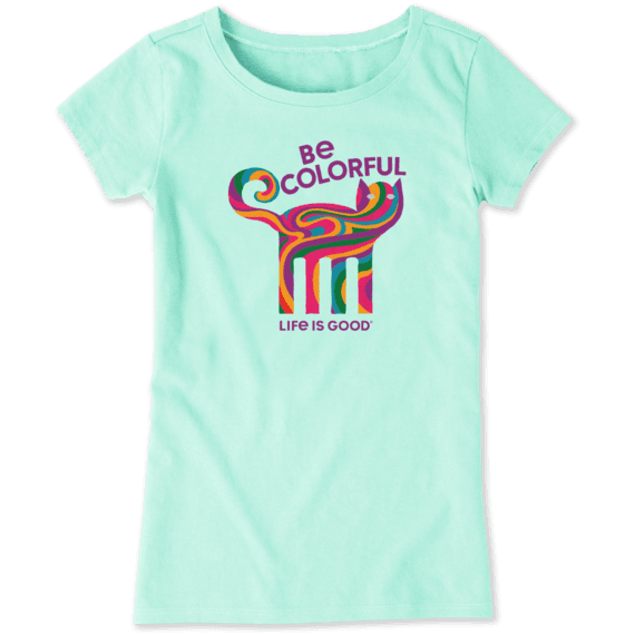 Girls Be Colorful Cat Crusher Tee