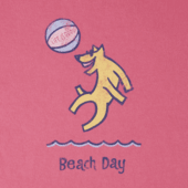 Girls Beach Day Crusher Tee