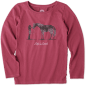 Girls Besties Horse Long Sleeve Crusher Tee