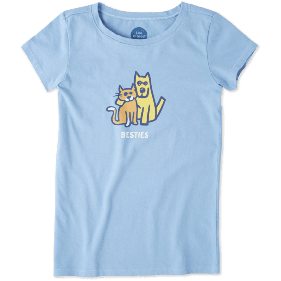 Girls Besties Rocket & Cat Crusher Tee