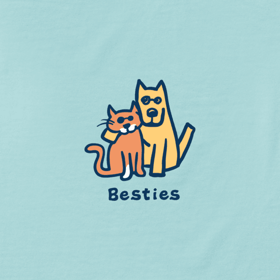 Girls Besties Vintage Crusher Tee