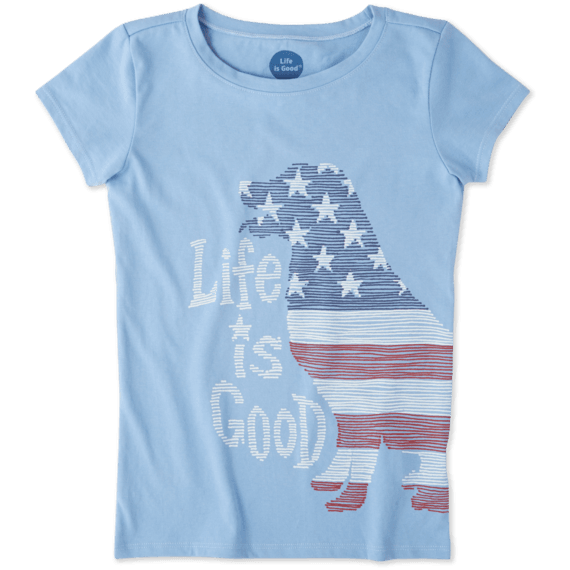 Girls Big Dog Flag Crusher Tee
