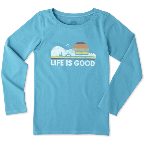 Girls Camp Guitar Long Sleeve Crusher Tee