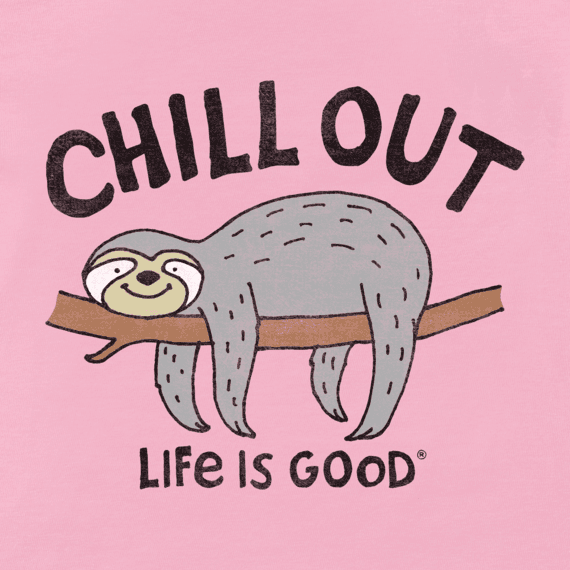 Girls Chill Out Sloth Crusher Tee