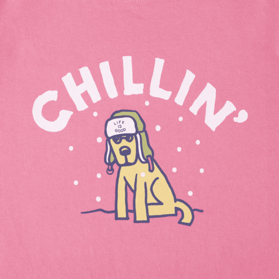 Girls Chillin' Rocket Long Sleeve Crusher Tee