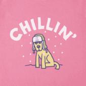 Girls Chillin' Rocket Long Sleeve Crusher Tee