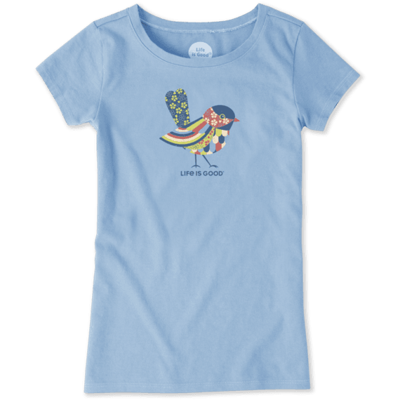 Girls Colorful Bird Crusher Tee
