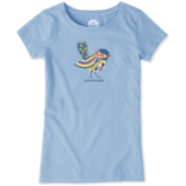 Girls Colorful Bird Crusher Tee