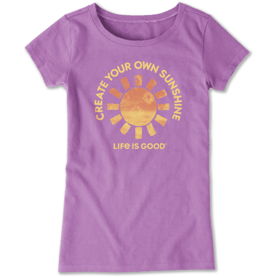 Girls Create Your Own Sunshine Crusher Tee