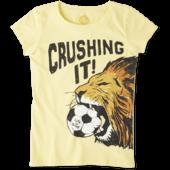 Girls Crushing It Soccer Crusher Tee