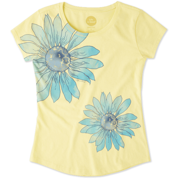 Girls Delightful Daisy Smiling Smooth Tee