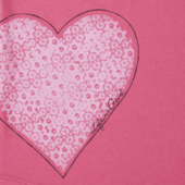Girls Delightful Heart Smiling Smooth Tee